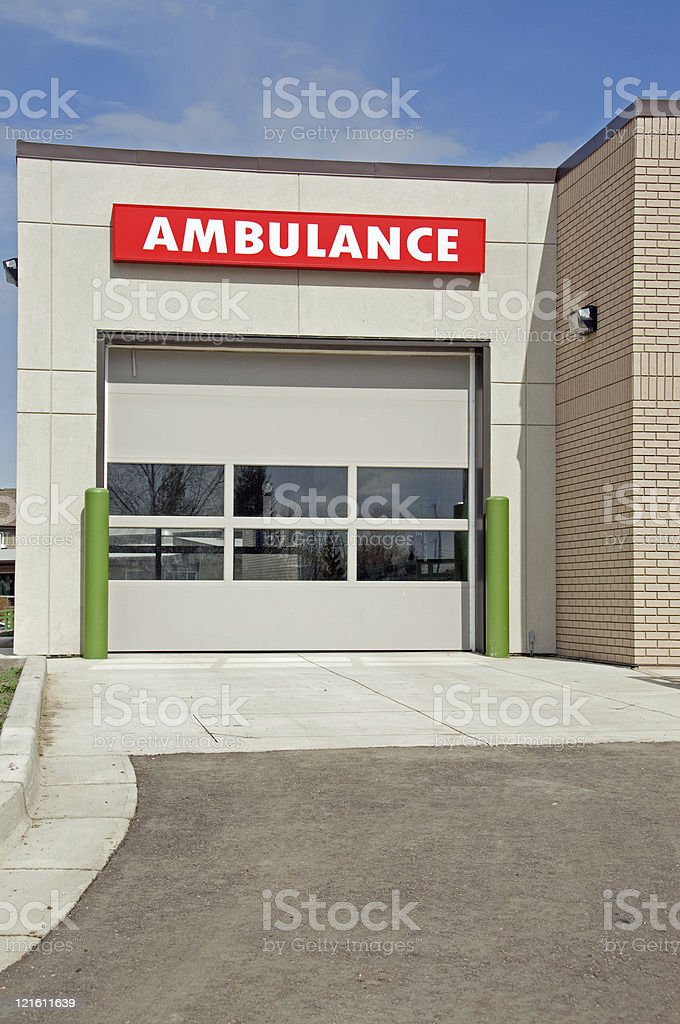 Ambulance Entrance stock photo