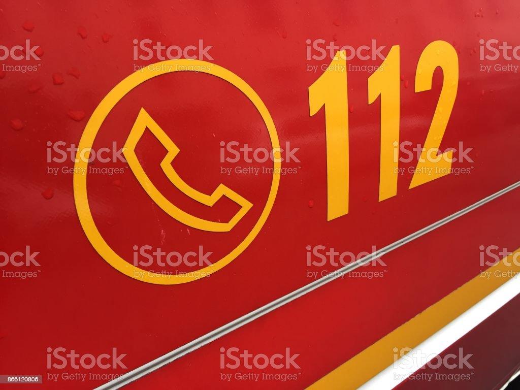 Ambulance first aid stock photo