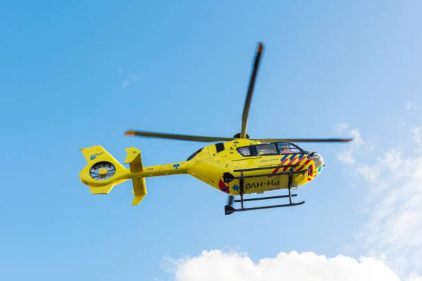 Ambulans helikopter. Amsterdam ANWB sağlık hava Yardımı (MAA). PH-HVB. stok fotoğrafı