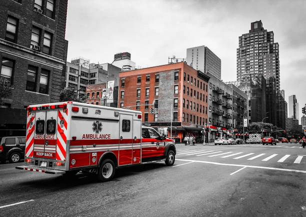 ambulance in harlem - ambulance stock photos and pictures