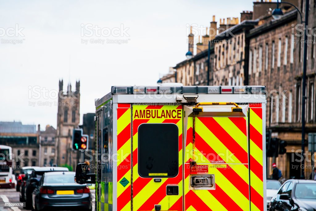 Ambulance in the UK stock photo