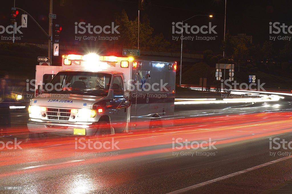 Ambulance in traffic  Ambulance Stock Photo