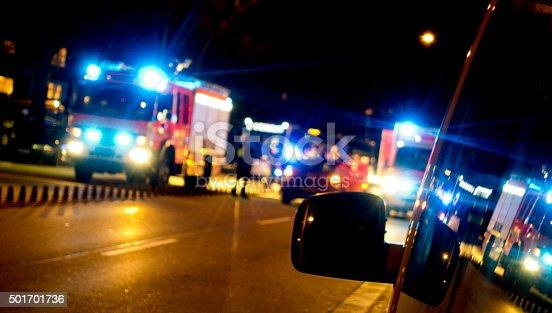 istock Ambulance in traffic 501701736