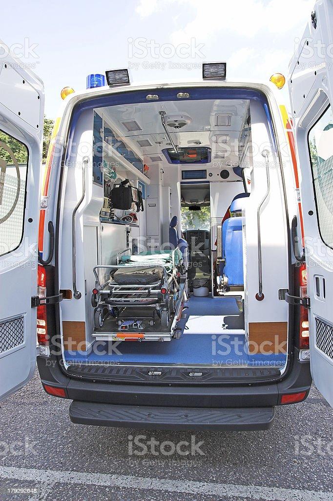 Ambulance interior stock photo