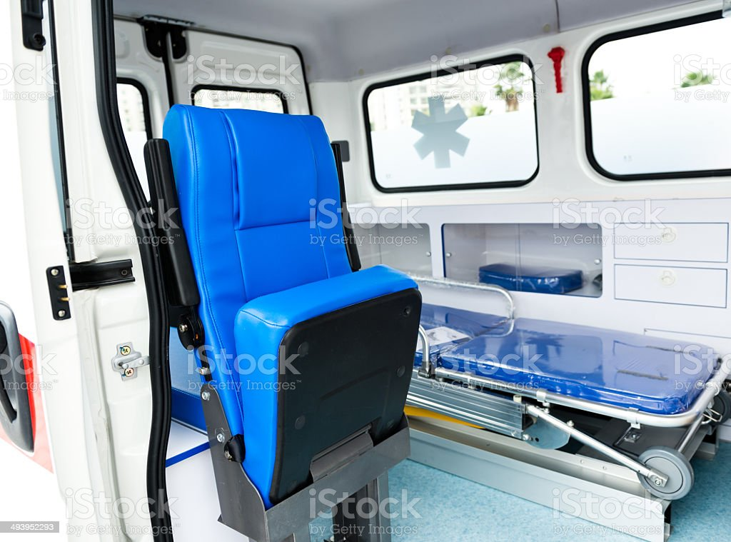 Ambulance interior royalty-free stock photo
