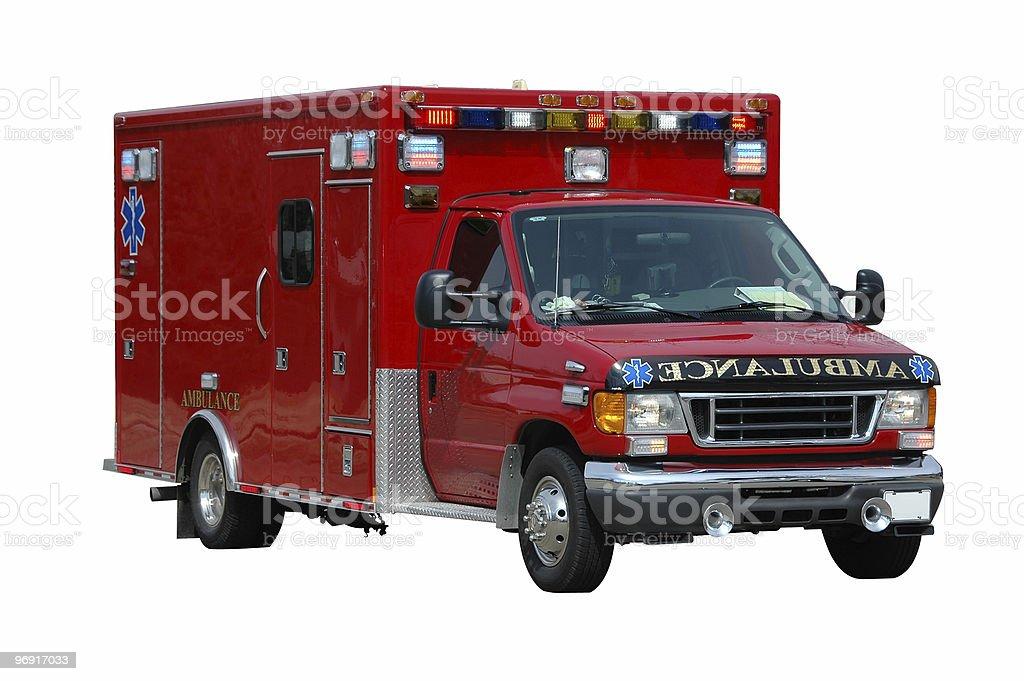 Ambulance issolated on a white background royalty-free stock photo