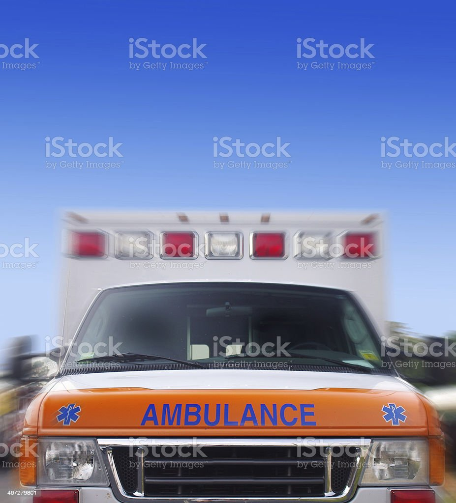 ambulance motion stock photo