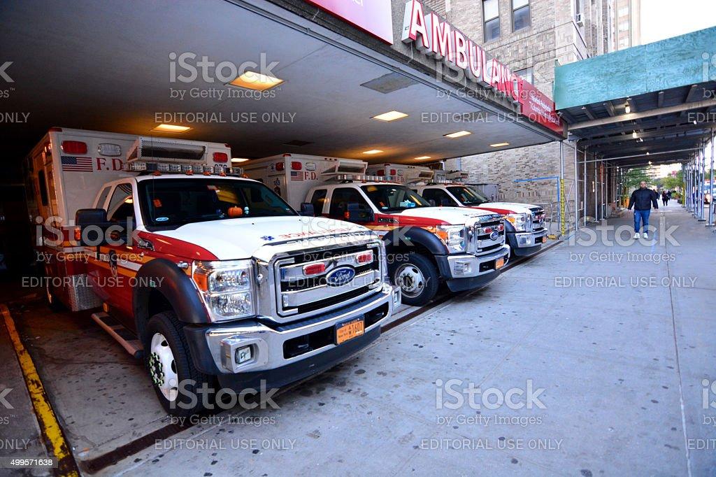 Ambulance NYFD stock photo