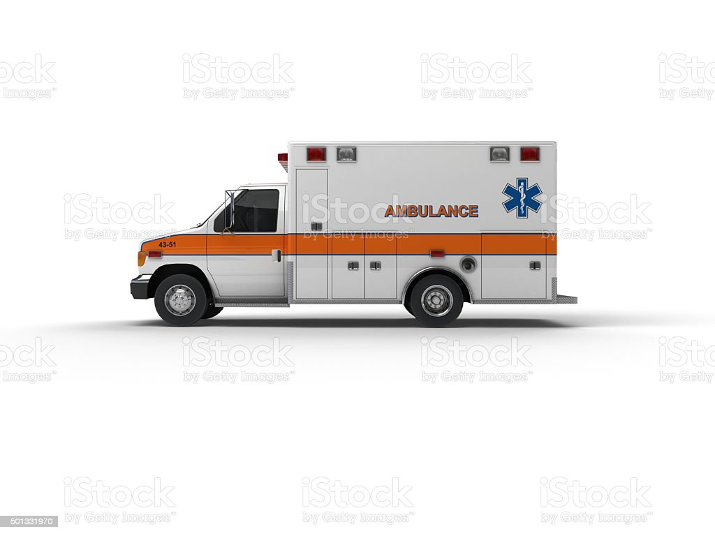 US Ambulance(XXXXXL) stock photo