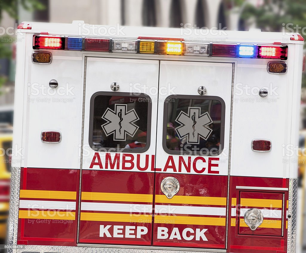 Ambulance. stock photo