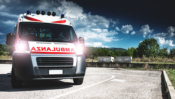 ambulance ready to depart ambulance ready to depart depart stock pictures, royalty-free photos & images
