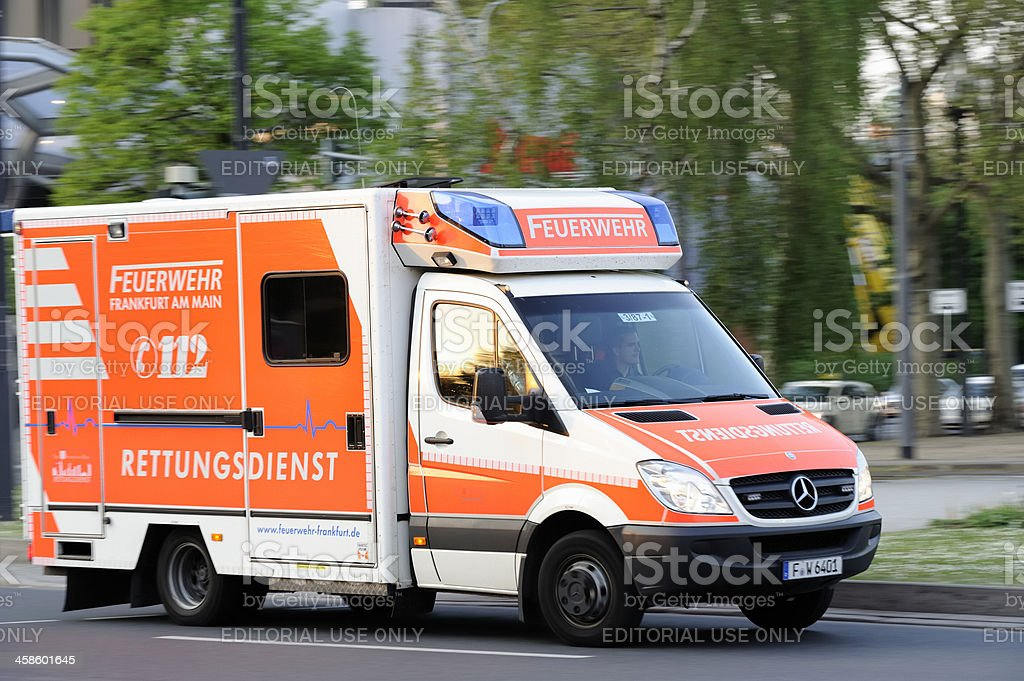 Ambulance Rushing to Site of Emergency royalty-free stock photo