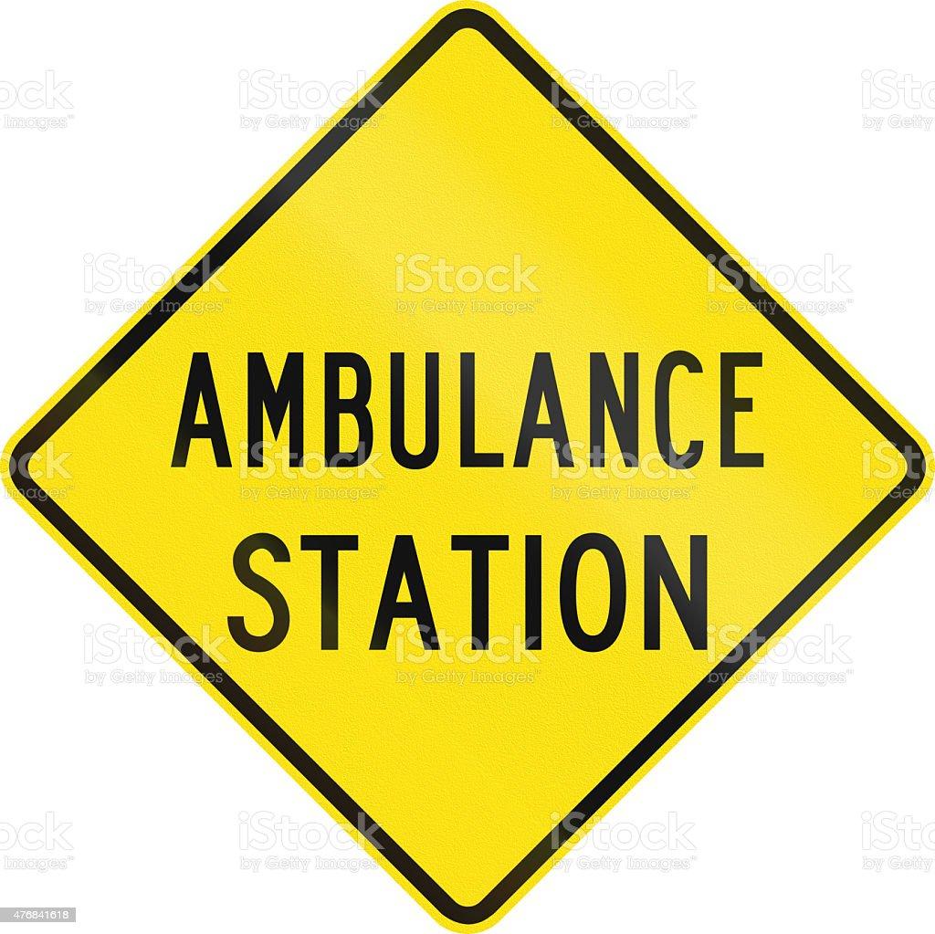 Ambulance Station in Australia stock photo