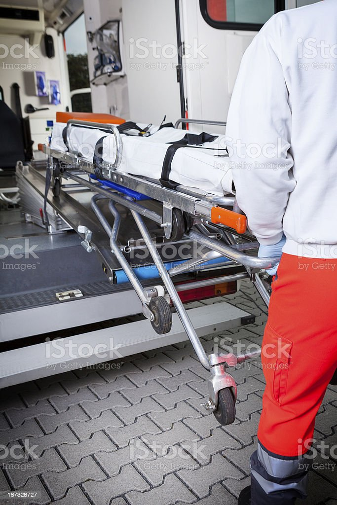 Ambulance, stretcher royalty-free stock photo