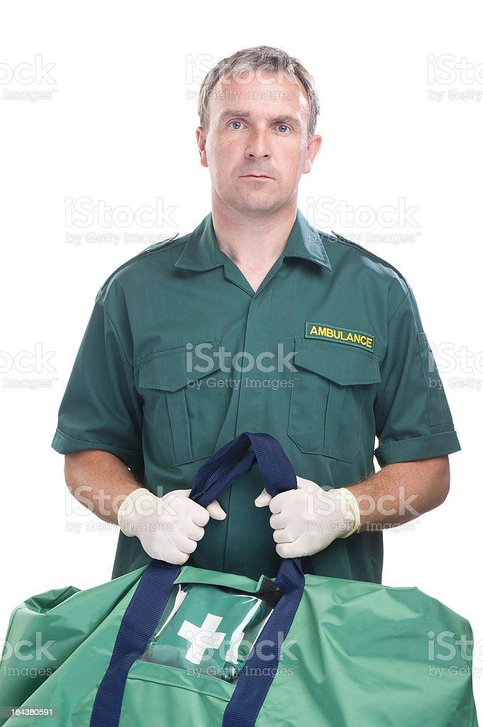 ambulance worker stock photo