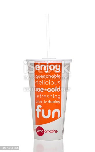 Amc Theatres Soda Paper Cup Stock Photo More Pictures Of 2015