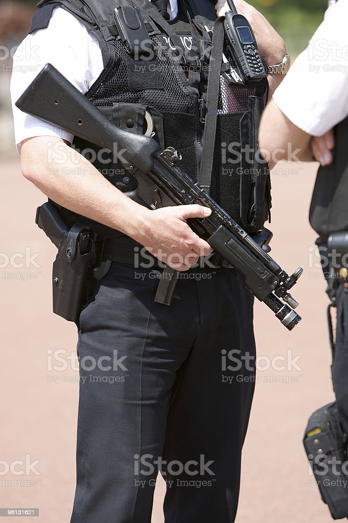Amed Police Officer stock photo