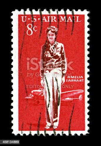 istock Amelia Earhart Commemorative Stamp issued 1963 458134889