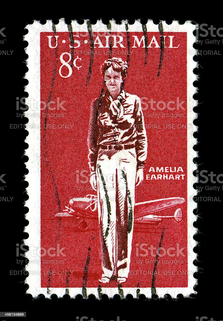 Amelia Earhart Commemorative Stamp issued 1963 stock photo