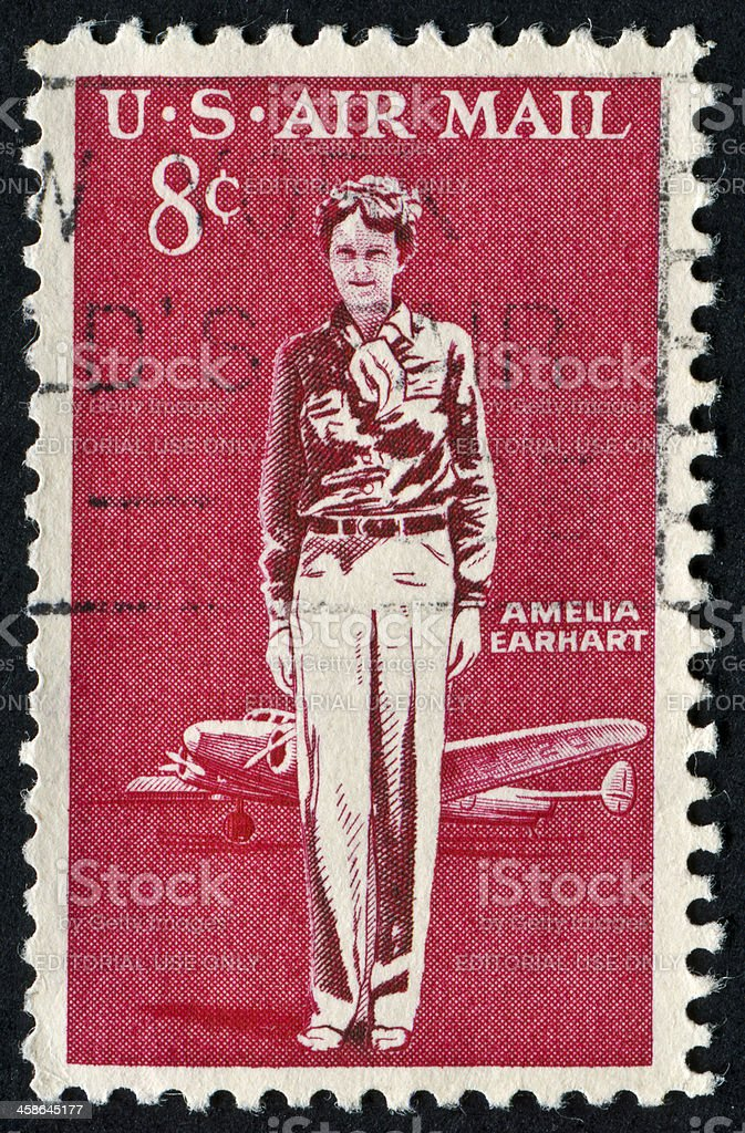 Amelia Earhart stock photo