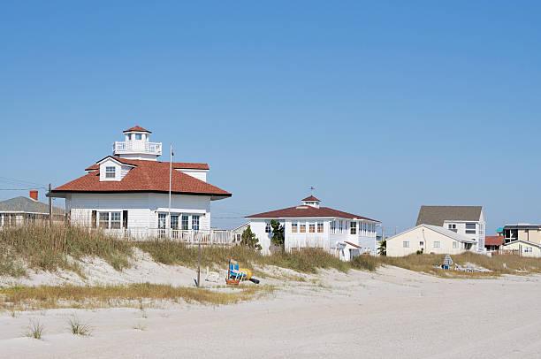 Amelia Island Florida Beach House along Shore stock photo