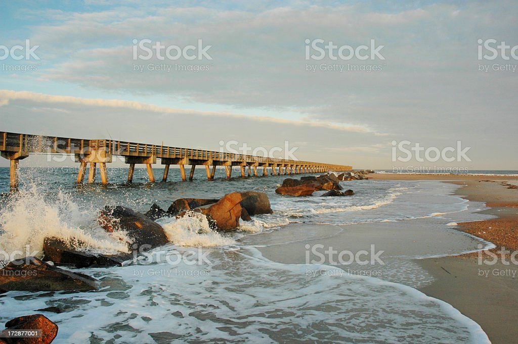 Amelia Island Florida Fishing Pier stock photo