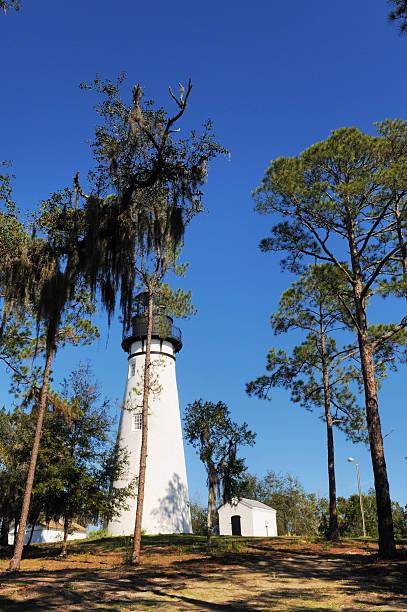 Amelia Island Light Lighthouse in Florida stock photo