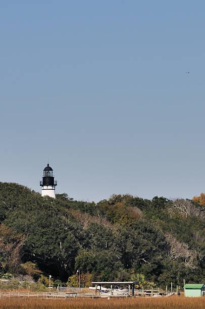 Amelia Island Lighthouse Florida stock photo