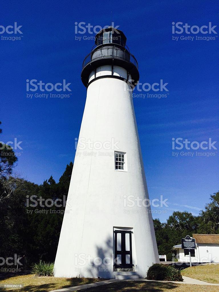 Amelia Island Lighthouse stock photo