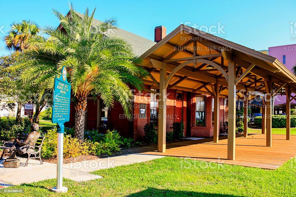 Amelia Island Welcome Center in downtown Fernandina Beach City, Florida stock photo
