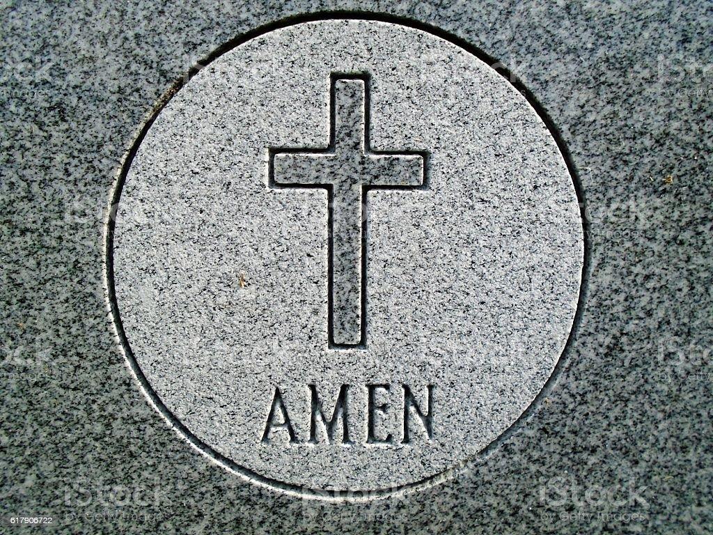 Amen Cross stock photo