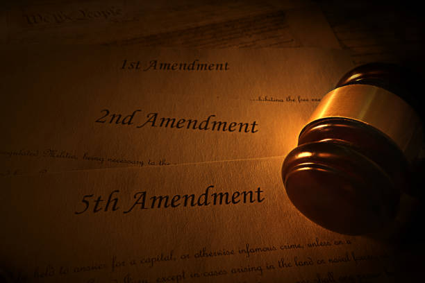 Amendments and gavel stock photo