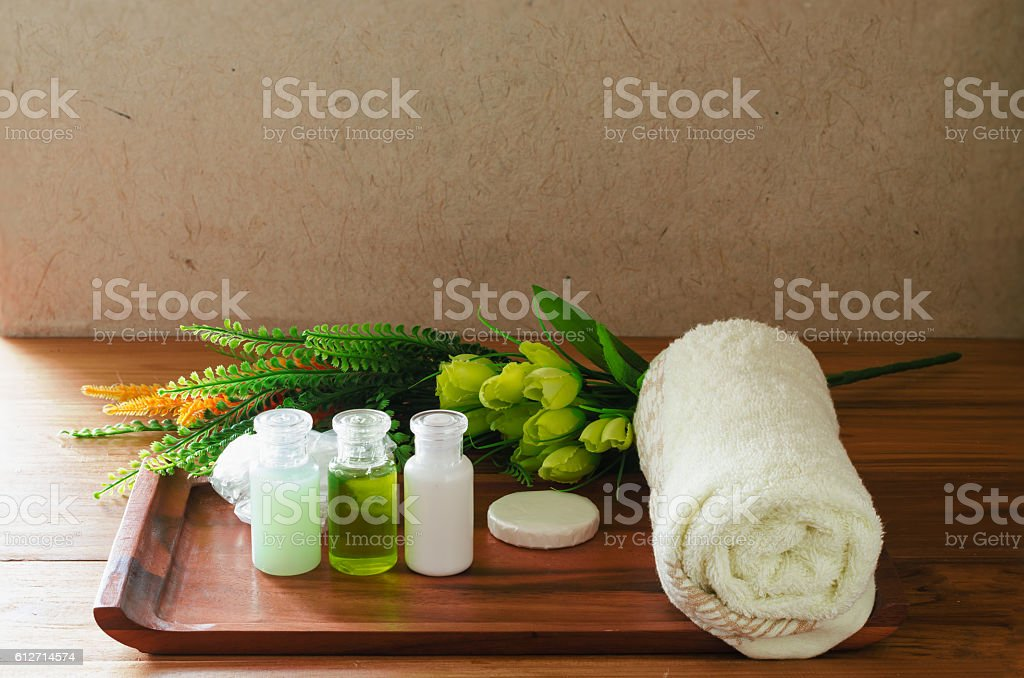 amenities hotel stock photo