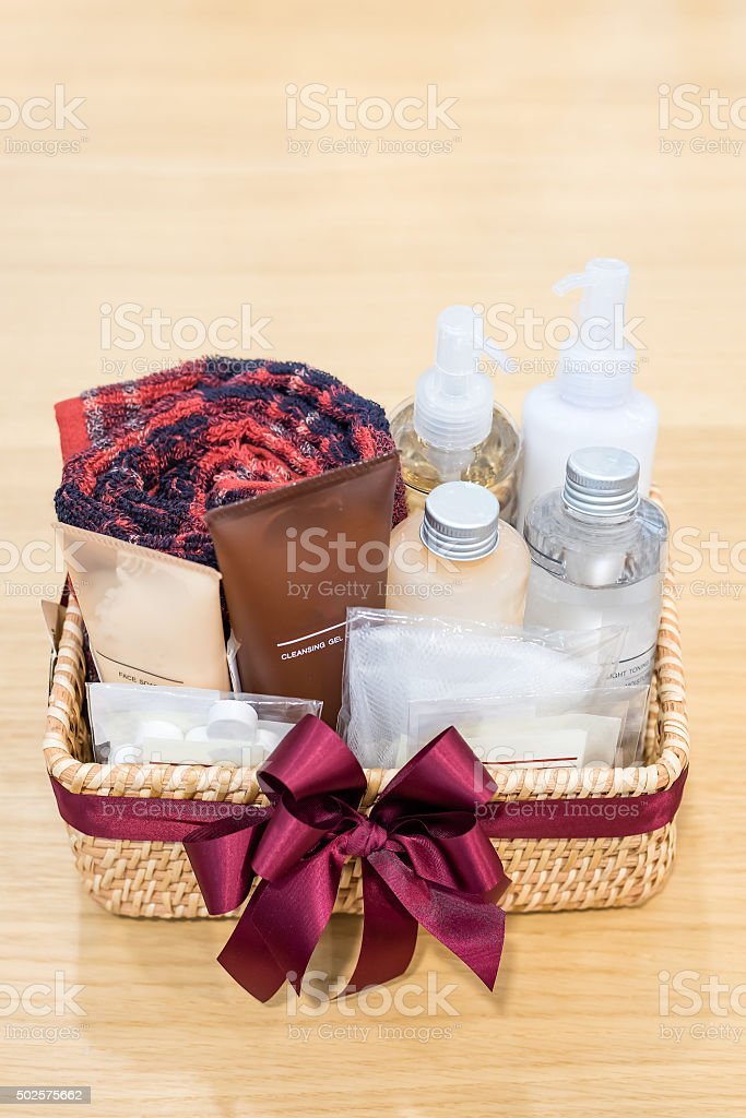 amenity gift set stock photo