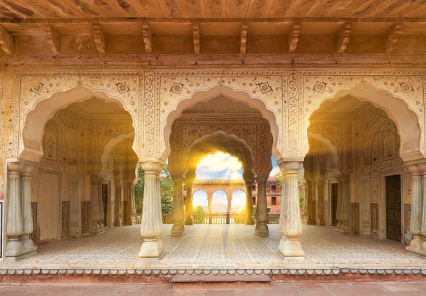 Cтоковое фото Amer Fort  is located in Amer, Rajasthan, India.