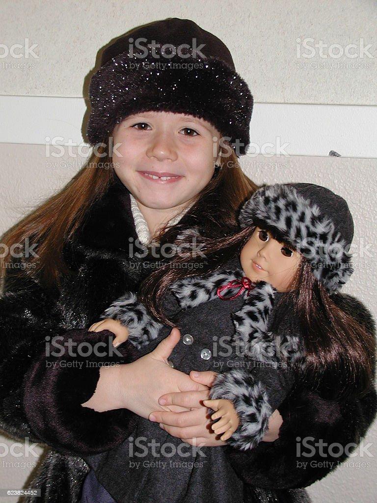 Amercan Girl Doll Look-Alike stock photo