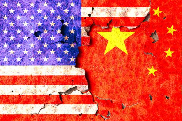 America and China flag – zdjęcie
