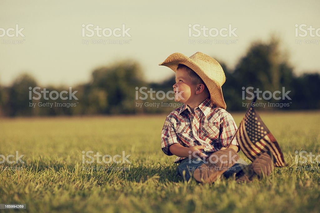 America Boy stock photo