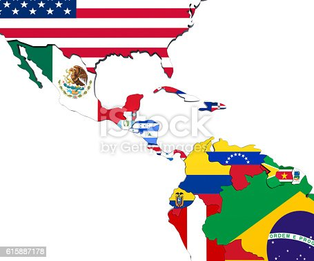 istock america central map 3d render 615887178