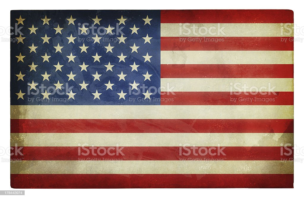 America flag grunge stock photo