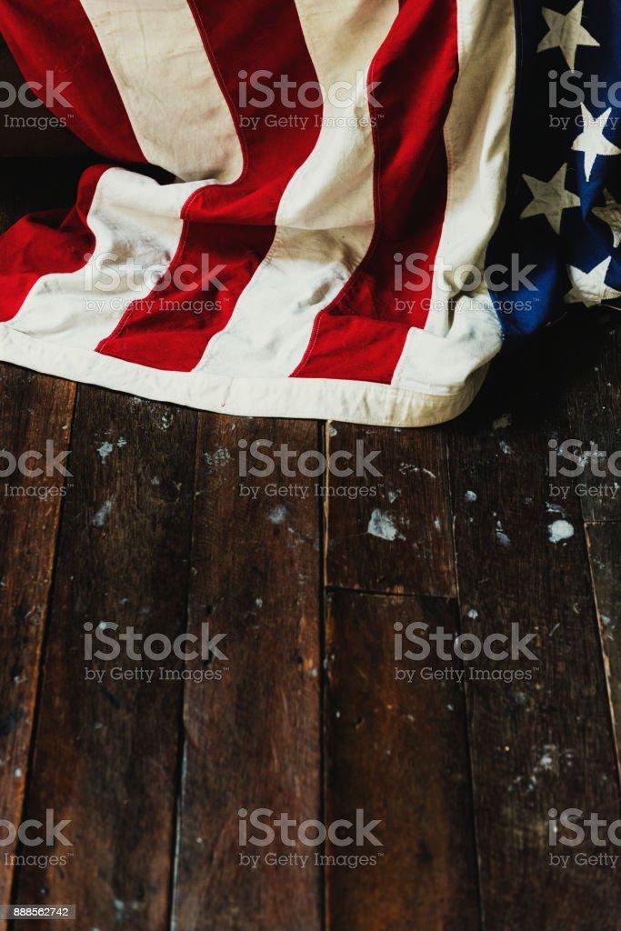 America flag home decoration stock photo