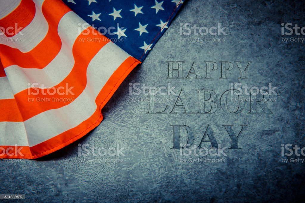 America flag with background for Labor day stock photo