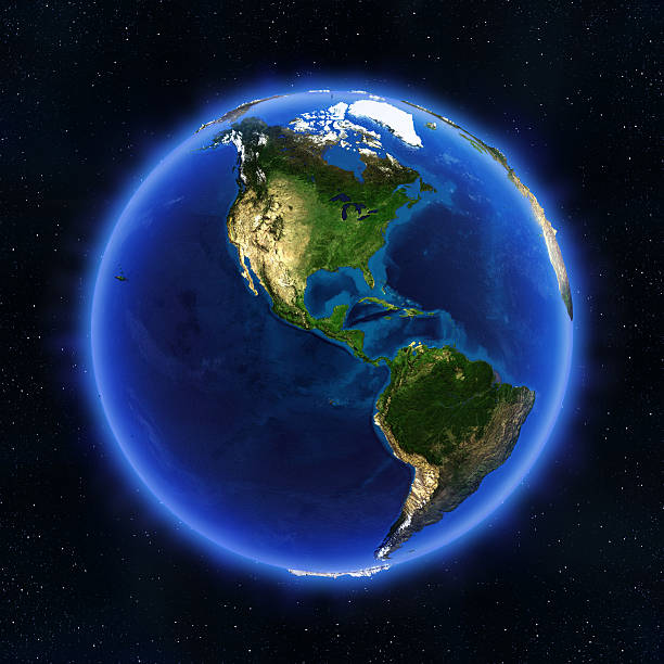america globe - north stock photos and pictures
