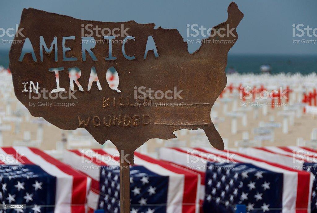 America in Iraq #2 - War Series royalty-free stock photo