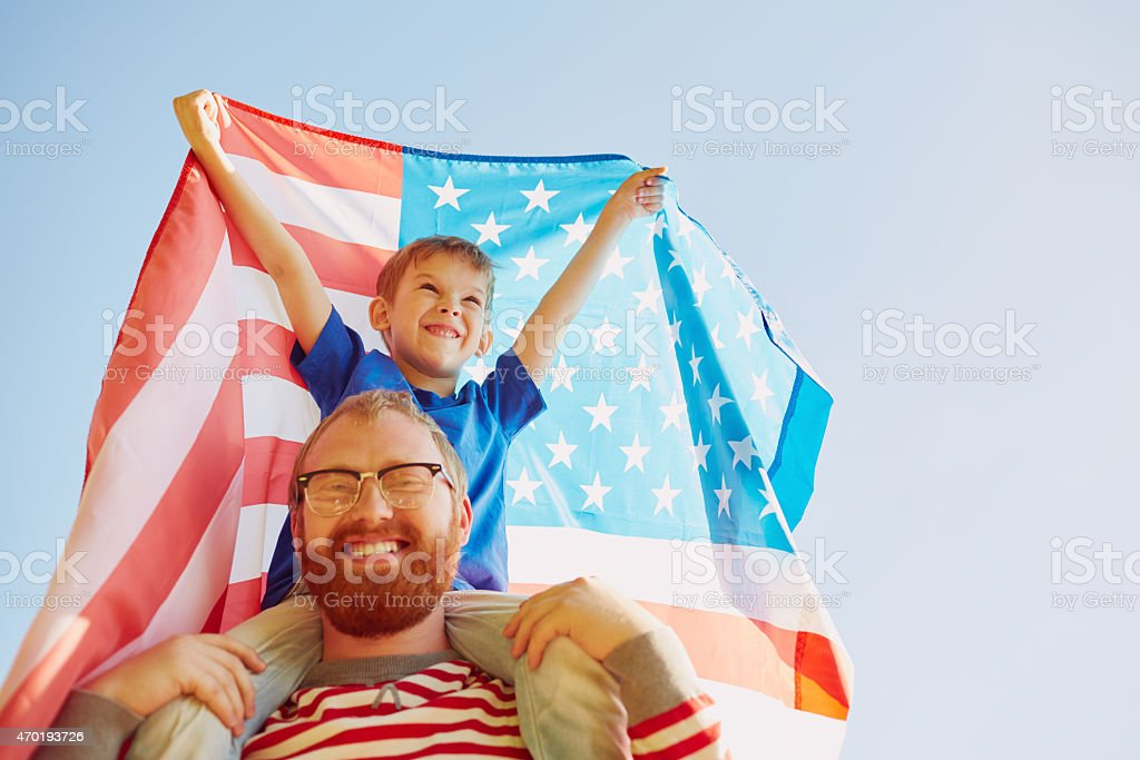 America is winner! stock photo