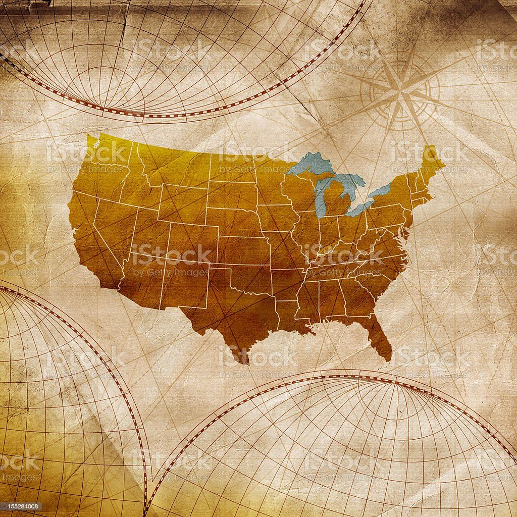America Map stock photo