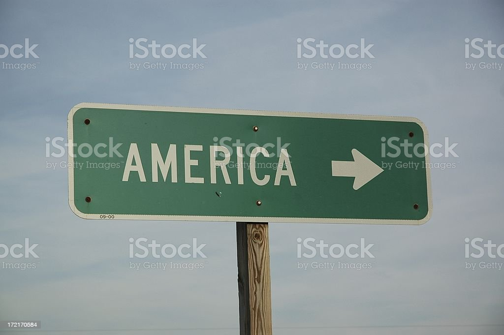 America on the right. stock photo