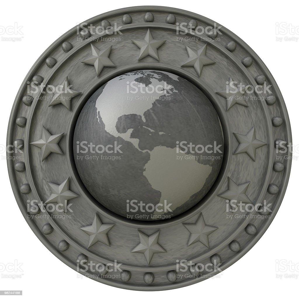 Scudo di America foto stock royalty-free