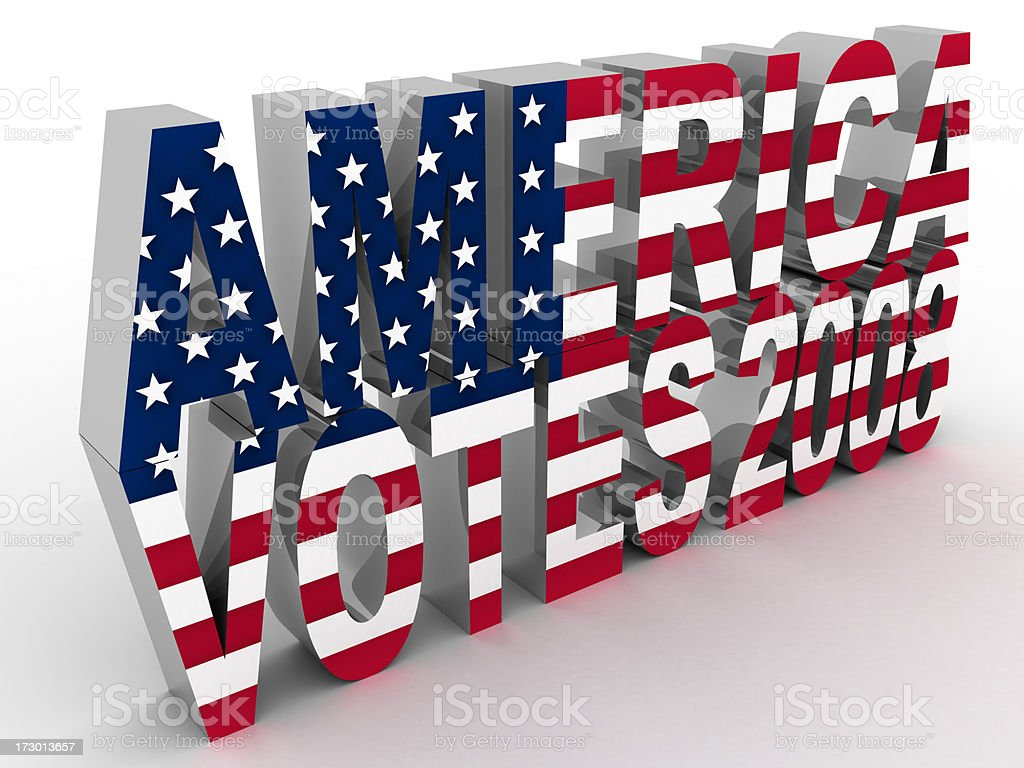 America Votes 2008 stock photo