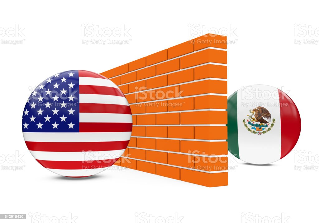 America-Mexico Border Wall stock photo